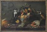 Snyders, Frans. 2 singes pillant une corbeille de fruits, Le Louvre
