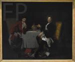 Autreau, Jacques. Les deux épicuriens. Vers 1705.