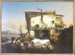 Garneray, Louis. La pêche aux aloses, 1835. MBA Montpellier