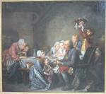Greuze, Jean-Baptiste. Le gâteau des rois, 1774. MBA Montpellier