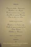 Menu républicain, Bordeaux, 1913