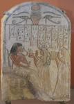 Khonsou, dieu de la lune, reçoit de la nourriture. Le Louvre