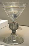 Verre à jambe, cristal soufflé. Vers 1550. Le Louvre