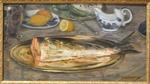 Blanche, Jacques-Emile, Morceau de saumon dans un plat d'argent, 1895, MBA Rouen