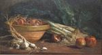 Eugène Boudin, NM aux poireaux, détail, vers 1853