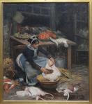 Gilbert, Victor, Un étal au pavillon de la marée, 1882, Musée maritime de l'île de Tatihou.