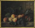 Cornelis van Spaendonck, Pêches, raisins et ananas sur une table, 1798, Le Louvre.