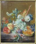 van Huysum, Jan, NM aux fruits, vers 1735. MBA Montpellier