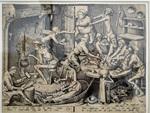 La cuisinière maigre, Van der Heyden, d'après Bruegel l'Ancien