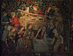 Les vendanges, tapisserie de laine et soie. Musée de Cluny.