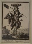 Costumes grotesques, Habit de cuisinier, Nicolas II de Larmessin, 1695. Eau-forte rehaussée de burin.