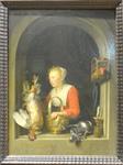 Dou, La ménagère hollandaise, 1650, Le Louvre