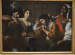 Valentin de Boulogne, Réunion dans un cabaret, 1625, Le Louvre.