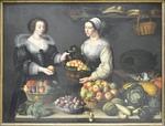 Moillon, La marchande de fruits et légumes, 1630. Le Louvre