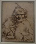 Stella, Jacques, Buveur assis à une table, 1619. Plume et encre brune.