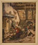 Van Ostade, Cuisine en sous-sol, 1673, Le Louvre