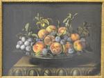 Dupuis, pêches, prunes sur un plat d'étain, 1640, Le Louvre