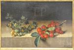 Garnier, Groseilles à maquereau et cerises, 1644, Le Louvre