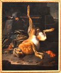 de Hondecoeter, Melchior. Un lièvre. Seconde moitié du XVIIe.