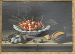 Moillon, Coupe de cerises, prunes, melon, 1633, Le Louvre