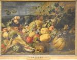 Snyders, Fruits et légumes avec un singe, 1620, Le Louvre